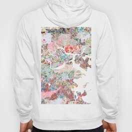 Boston map portrait Hoody