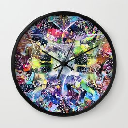 Crow's Paintbrush Wall Clock