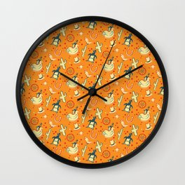 PENGUIN RODEO Wall Clock
