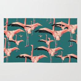 tropical flamingos  Rug