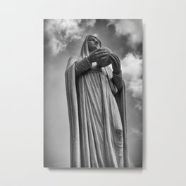 Virgin Mary situated in front of the Notre Dame Cathedral in Ho Chi Minh City, Vietnam. Metal Print