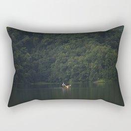 Rowing back home. Rectangular Pillow