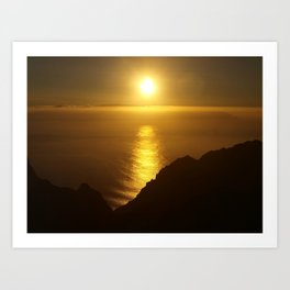 Sunset over the Canary islands Art Print