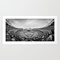 yankees Art Prints featuring New York Yankees by Bust it Away Photography
