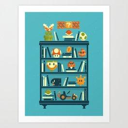 Mario Shelf Art Print