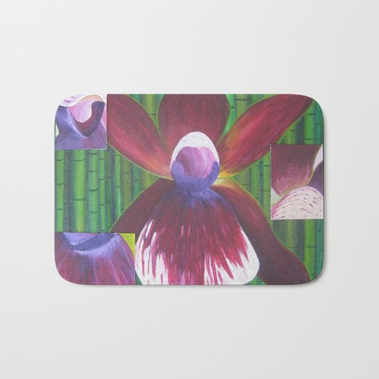 The Many Faces of Orchids Bath Mat