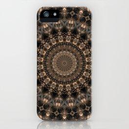 Mandala grey elegance iPhone Case