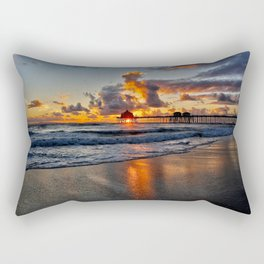 Sunset HB Pier  (10-28-13) Rectangular Pillow