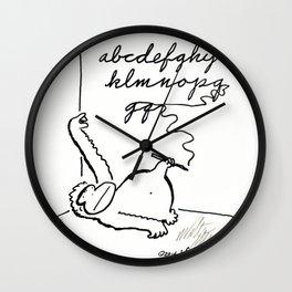 Ape Practices Penmanship Wall Clock