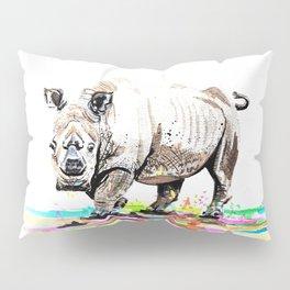 Sudan the last male northern white rhino Pillow Sham