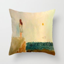 When The End Comes Rolling In Throw Pillow