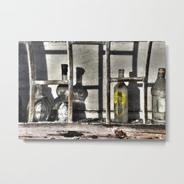 Abounded Bottle Collection Point In Riga Latvia Metal Print