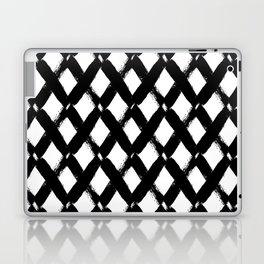 Black and White Criss Cross Pattern Modern Contemporary Laptop & iPad Skin