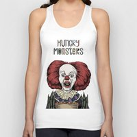 pennywise Tank Tops featuring Pennywise is hungry by Andres Eladio