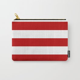 UE red - solid color - white stripes pattern Carry-All Pouch