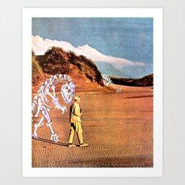 Walk with Dinosaur Art Print