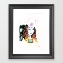 Black Wing Framed Art Print