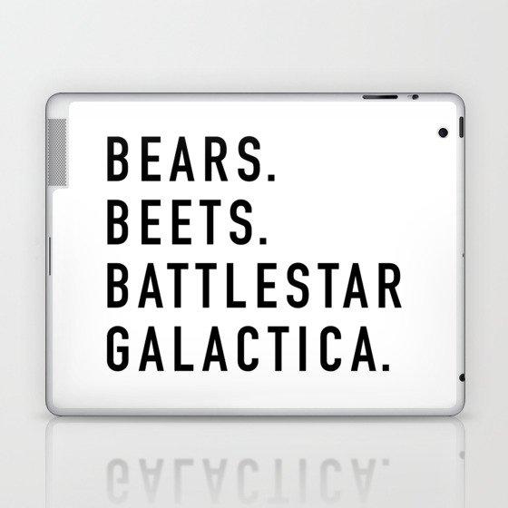 Bears Beets Battlestar Laptop & iPad Skin