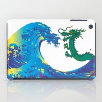 hokusai iPad Cases featuring Hokusai Rainbow & Dragon by FACTORIE