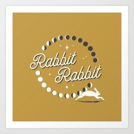 Rabbit Rabbit Moon Phases Art Print