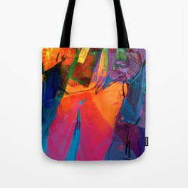 Walking with Sunset  Tote Bag