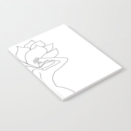 Minimal Line Art Flower Woman by nadja1