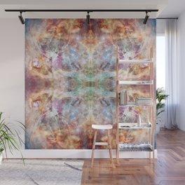 Abstract Batik Mandala Rorschach Ink Blot Pattern - Motonari Wall Mural