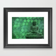 buddha light green II Framed Art Print