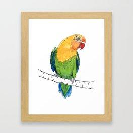 Lovebird Listener Framed Art Print