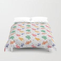 Multicolor Mithila Fish Print Duvet Cover