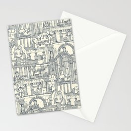 Ancient Greece indigo pearl Stationery Cards