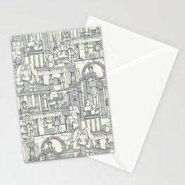 Ancient Greece indigo pearl Stationery Cards