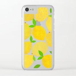 Lemon Crowd Clear iPhone Case