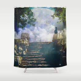 Moon Stairs Shower Curtain