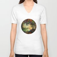fairytale V-neck T-shirts featuring Fairytale Landscape by Klara Acel
