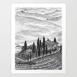 Villa Art Print