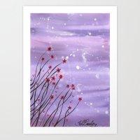 Starlit Flowers Art Print