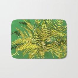 Golden Fern, green & yellow Bath Mat