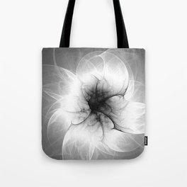 Ghost Flower Fractal Tote Bag