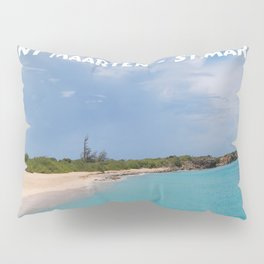 Tropical sandy beach of Sint Maarten - St. Martin Pillow Sham