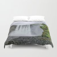 iceland Duvet Covers featuring Intrepid Iceland by Alex Tonetti Photography