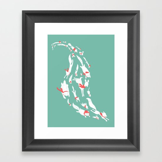 With Scarves of Red Framed Art Print