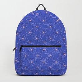 Geometrical Sunflower Seeds Blue&Pink Backpack