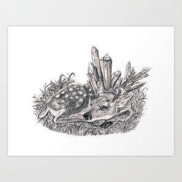 Crystal Fawn Art Print