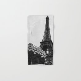 Eiffel Tower Carousel III Hand & Bath Towel