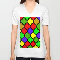 moroccan V-neck T-shirts featuring Moroccan HOLIDAY#3 by Saundra Myles