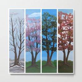 Four Seasons of a Tree Metal Print