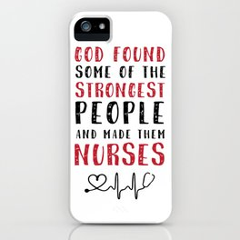 Nurse Strong iPhone Case