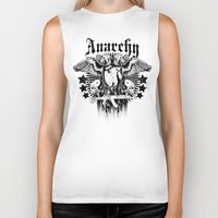 anarchy Biker Tanks featuring Anarchy by Tshirt-Factory