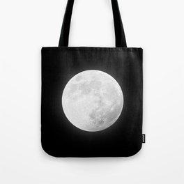 CHALK WHITE MOON Tote Bag